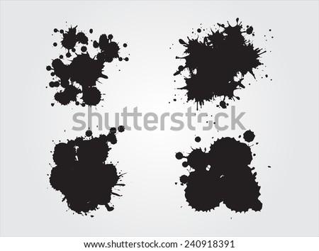 Splash set.Ink splashes.Vector template.  - stock vector