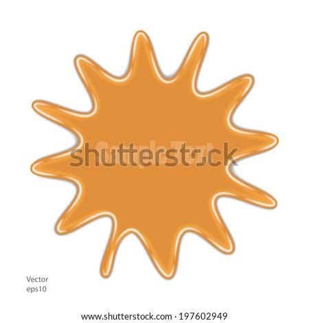 splash. spot of color. orange. vector eps10 - stock vector