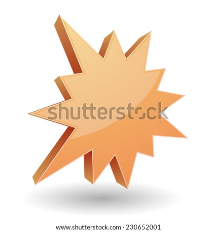 splash star burst 3d icon design - stock vector