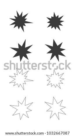 Splash star outline icon set stock vector 1032667087 shutterstock splash star outline icon set sciox Gallery
