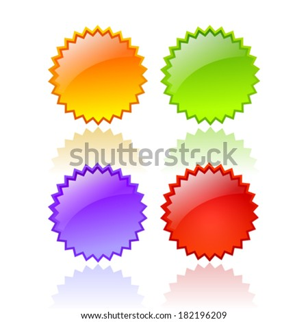 Splash stars - stock vector
