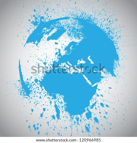Splash vector World - stock vector