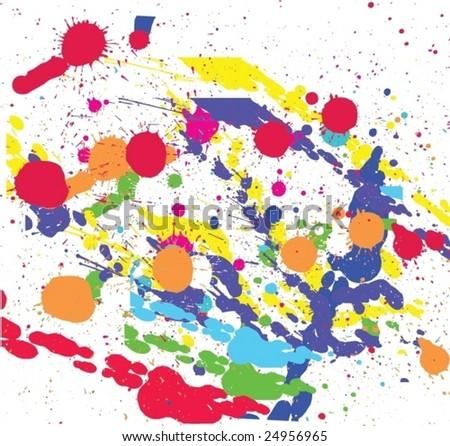 Splat background - stock vector