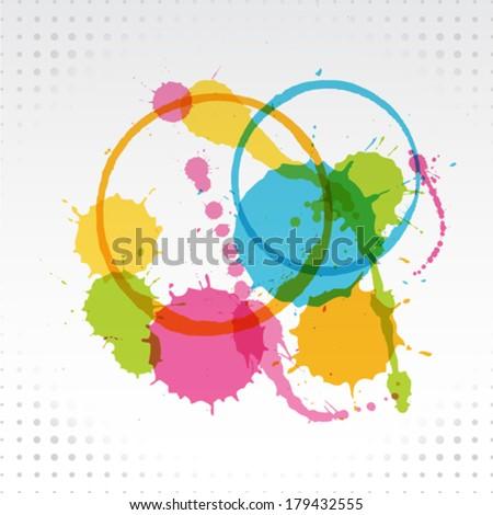Splattered Background - stock vector