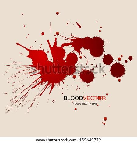 Splattered blood stains, illustration by vector design. - stock vector