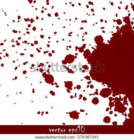 Splattered blood stains - Vector illustration.