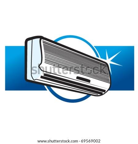 split air conditioner - stock vector