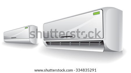 Split conditioner system realistic vector object on white background