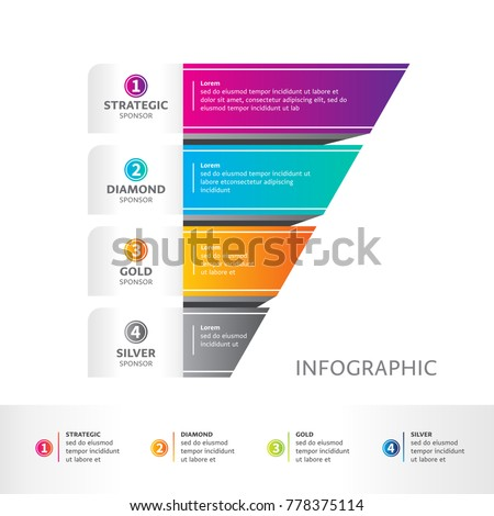 Sponsorship packages abstract infographics number options stock sponsorship packages abstract infographics number options template vector illustration can be used for maxwellsz