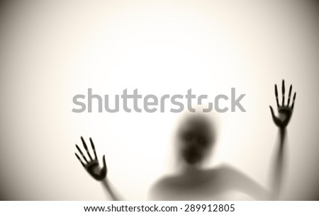 spooky diffuse silhouette vector - stock vector