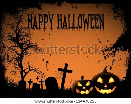 Spooky Halloween background - stock vector