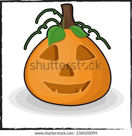 Spooky Halloween Jack-O-Lantern - stock vector