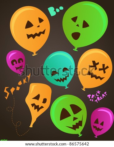 Spooky halloween party balloon set