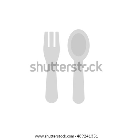 spoon and fork vector illustration