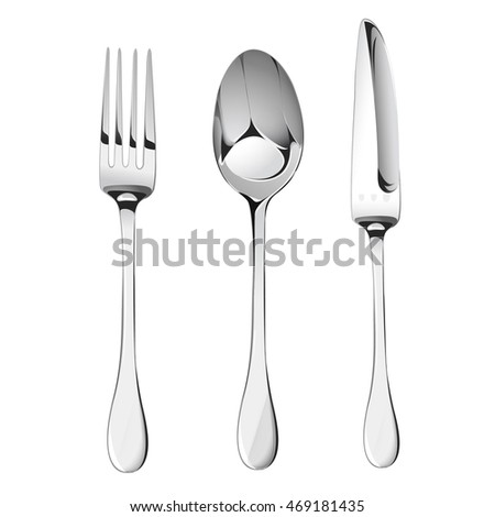 Spoon,fork and knife. Vector illustration