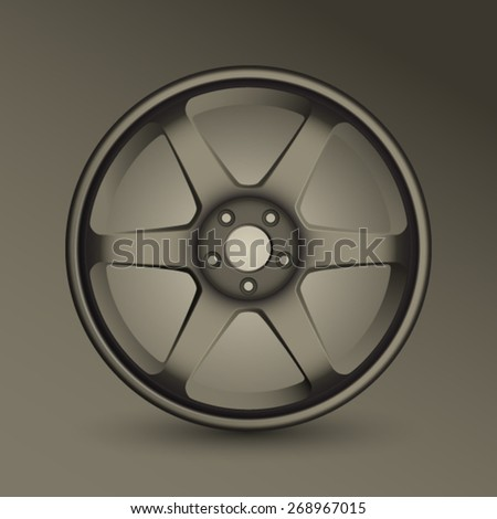 Sport Alloy Wheel - stock vector