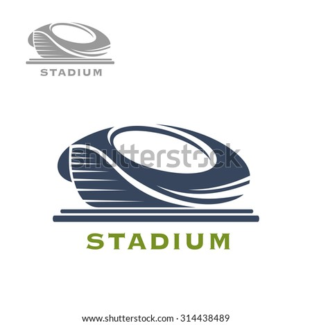 Sport arena or stadium icon for sports game, tournament or building themes design - stock vector