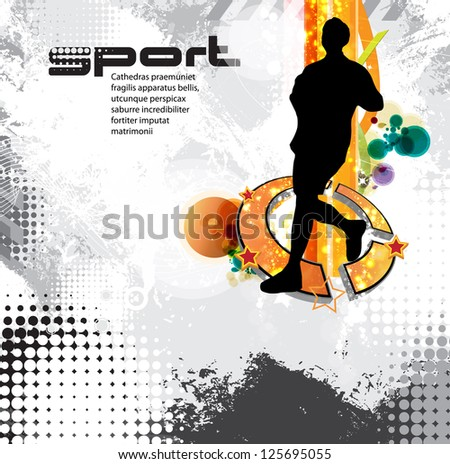 Sport background - stock vector