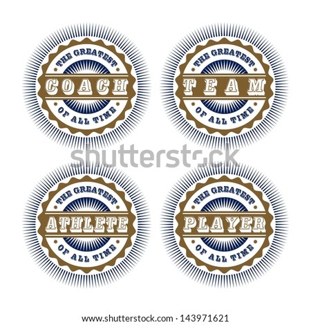 sport badge set