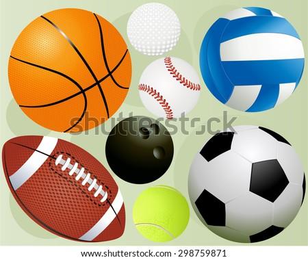 Sport balls - stock vector