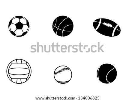 Sport Balls icons, eps10 - stock vector