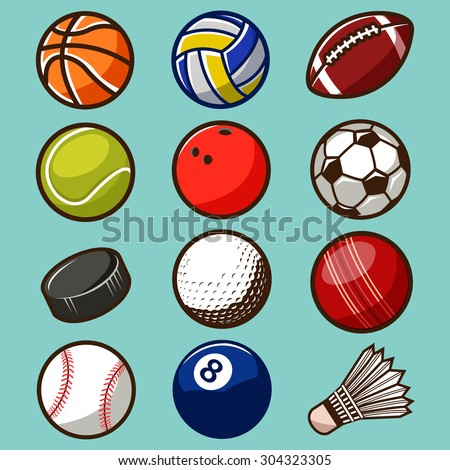 Sport Balls Vector Set 02 - stock vector