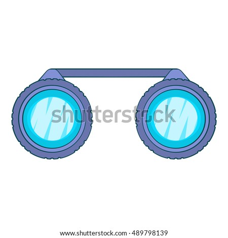Sport binoculars icon in cartoon style isolated on white background. Watch symbol vector illustration