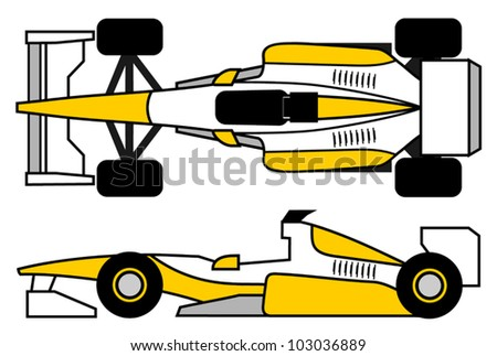 Sport car design - stock vector