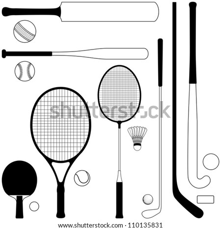 Sport collection - vector illustration - stock vector