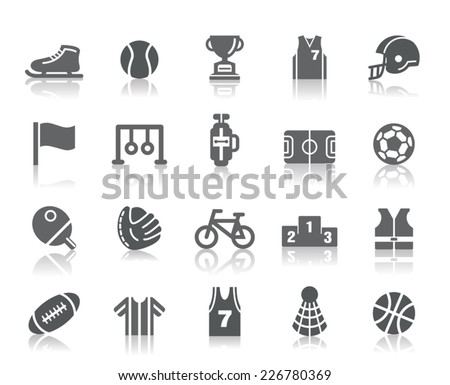 Sport Competition Icons - stock vector