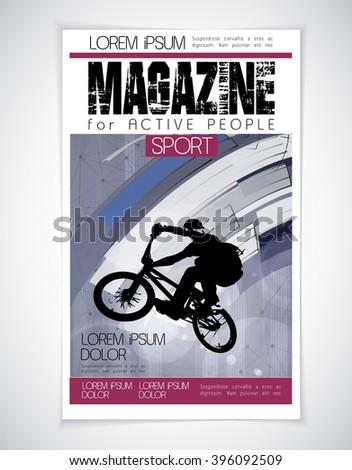 Sport cover magazine, vector - stock vector