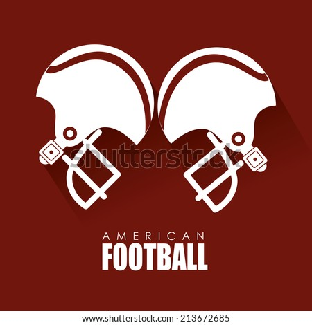 Sport design over red background, vector illustration - stock vector