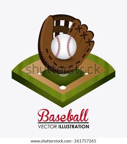 Sport design over white background, vector illustration. - stock vector