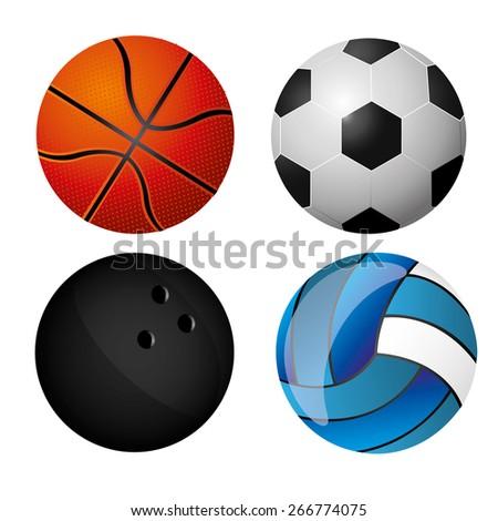 Sport design over white background, vector illustration - stock vector