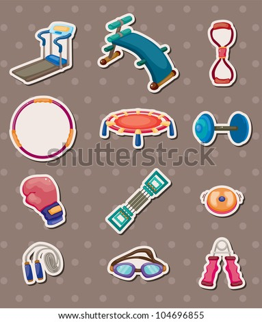 sport element stickers - stock vector