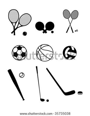 Sport equipment - stock vector