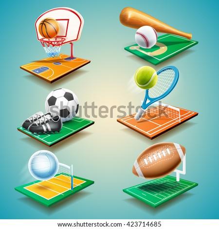 sport equipment - stock vector