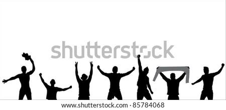 Sport Fans Poser - stock vector