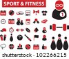 sport & fitness icons set, vector - stock vector