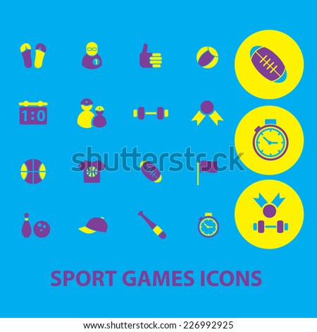 sport games icons, set
