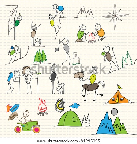 sport holiday adventurer - stock vector