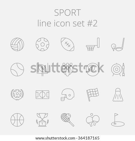 Sport icon set. - stock vector