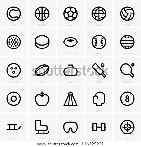 Sport icons - stock vector