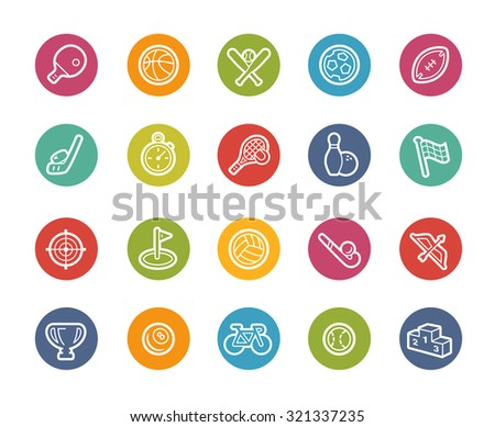 Sport Icons // Printemps Series - stock vector