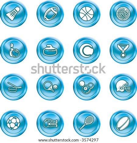 sport icons.  series of icons or design elements relating to sports - stock vector