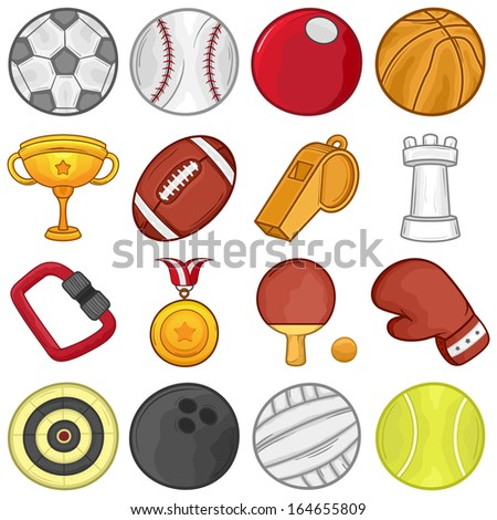 Sport Icons set // Illustration  - stock vector