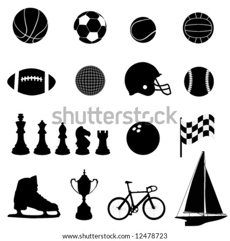 sport icons vector - stock vector