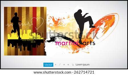 Sport illustration  - stock vector