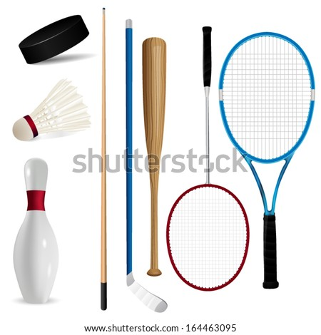 Sport items - stock vector