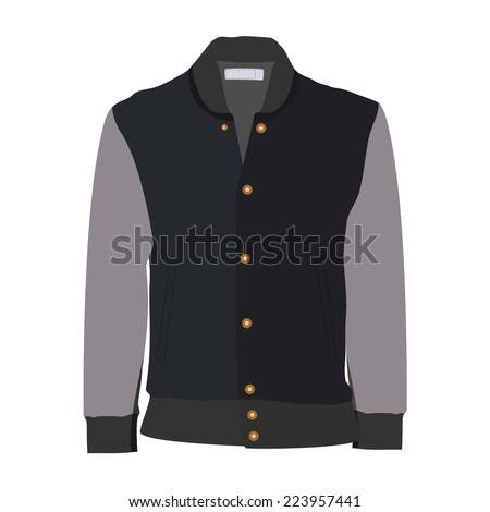 Sport jacket, winter jacket, running jacket - stock vector
